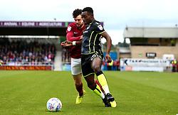 Marc Bola of Bristol Rovers goes past Brendan Moloney of Northampton Town - Mandatory by-line: Robbie Stephenson/JMP - 07/10/2017 - FOOTBALL - Sixfields Stadium - Northampton, England - Northampton Town v Bristol Rovers - Sky Bet League One