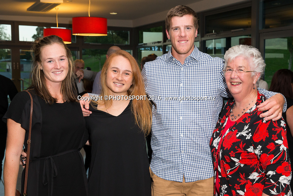 Claudia Hyde, Jess Ria, Isaac Grainger, Evelyn Johnston at the High Performance Sport NZ Waikato ceremony for the Prime Minister's Scholarship Awards, at Sir Don Rowlands Centre, Lake Karapiro, Cambridge, New Zealand, 20 April 2016. Copyright Photo: Stephen Barker / www.photosport.nz