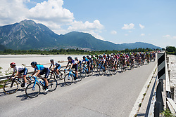 Movistar Women's Team on the front as the race reaches the halfway point at Giro Rosa 2018 - Stage 9, a 104.7 km road race from Tricesimo to Monte Zoncolan, Italy on July 14, 2018. Photo by Sean Robinson/velofocus.com