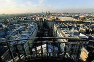 France. Paris. elevated view. Paris , view from the Sorbonne church
