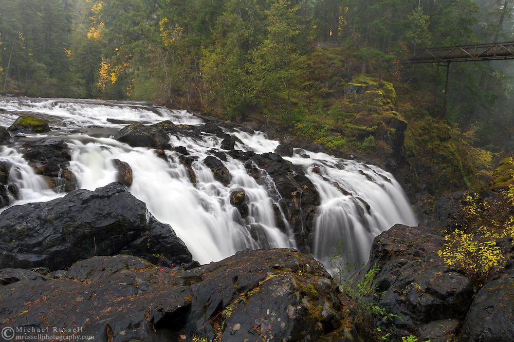 Englishman River Falls in Englishman River Falls Provincial Park near Nanaimo, British Columbia, Canada