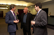 Melvyn Bragg, Greg Dyke and Hamid Zadeh, Inside Story by Greg Dyke, the Galleria, Chelsea Village Hotel. 20 September 2004. SUPPLIED FOR ONE-TIME USE ONLY-DO NOT ARCHIVE. © Copyright Photograph by Dafydd Jones 66 Stockwell Park Rd. London SW9 0DA Tel 020 7733 0108 www.dafjones.com