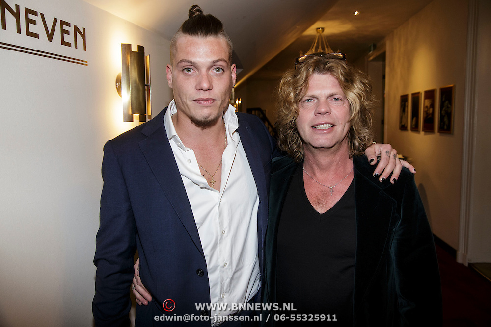 NLD/Amsterdam/20150206 - Fedde le Grand opening Grand int Carre Amsterdam, Toni Peroni en zoon Tony Jr.