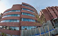 LRGHealthcare building from Spring Street.  (Karen Bobotas/for the Laconia Daily Sun)