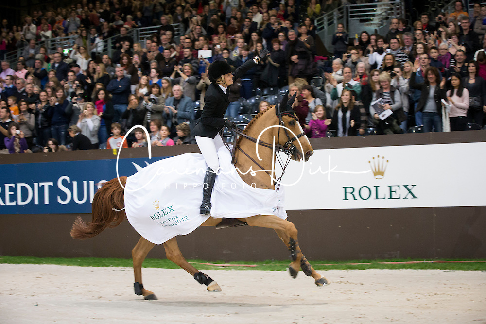 Alexander Edwina (AUS) - Itot du Chateau<br /> Winner of the Rolex FEI World Cup qualifier<br /> CSI-W Geneve 2012<br /> &copy; Dirk Caremans