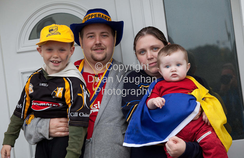 2/9/2009.James Leahy and Jennifer Kennedy with their kids Jamie, 10 months and Shane aged 6 in Urlingford..Picture Dylan Vaughan.