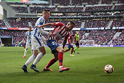 March 9, 2019 - Madrid, Madrid, Spain - Atletico de Madrid's Victor Machin 'Vitolo' and CD Leganes's Rodrigo Tarin Higon during La Liga match between Atletico de Madrid and CD Leganes at Wanda Metropolitano stadium in Madrid. (Credit Image: © Legan P. Mace/SOPA Images via ZUMA Wire)