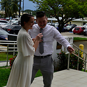 HAGATNA, Guam --  SEPT 28, 2018 -<br /> The wedding of Lt Ross Hieatt and Alanna Thornton at the Guam Superior Courthouse. U.S. Navy Photo by Chief Mass Communication Specialist Roger Duncan.