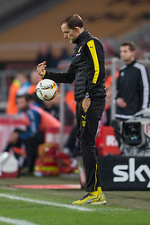 19.12.2015, Rhein Energie Stadion, Koeln, GER, 1. FBL, 1. FC Koeln vs Borussia Dortmund, 17. Runde, im Bild Trainer Thomas Tuchel (Borussia Dortmund) // during the German Bundesliga 17th round match between 1. FC Cologne and Borussia Dortmund at the Rhein Energie Stadion in Koeln, Germany on 2015/12/19. EXPA Pictures © 2015, PhotoCredit: EXPA/ Eibner-Pressefoto/ Schueler<br /> <br /> *****ATTENTION - OUT of GER*****