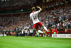 June 10, 2019 - Warsaw, Poland - Poland's forward Kamil Grosicki celebrate scoring during the UEFA Euro 2020 qualifier Group G football match Poland against Israel on June 10, 2019 in Warsaw, Poland. (Credit Image: © Foto Olimpik/NurPhoto via ZUMA Press)