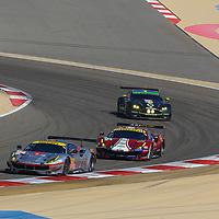 #54, Spirit of Race, Ferrari 488 GTE, driven by: Thomas Flohr, Franceseco Castellacci, Miguel Molina, WEC BAPCO 6 Hours of Bahrain, 17/11/2017,