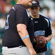 8/22/10 Aberdeen, MD: Ocala Florida Pitching Coach James Harris  makes the call to the bull pin for relief for starting pitching Kirby McMullen (18) at The Cal Ripken World Series in Aberdeen MD. Credit: Saquan Stimpson/ Southcreek Global