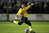 Aldershot's Venezuelan's Goalkeeper Mikhael Jaimez-Ruiz<br /> Aldershot vs Chesterfield at The Recreation Ground Aldershot<br /> Coca-Cola Football League Two  31/03/2009.<br /> Credit Colorsport / Shaun Boggust