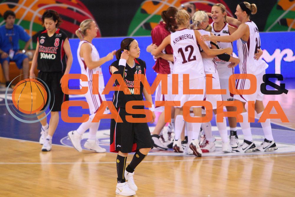 DESCRIZIONE : Madrid 2008 Fiba Olympic Qualifying Tournament For Women Latvia Japan <br /> GIOCATORE : Ryoko Yano <br /> SQUADRA : Japan Giappone <br /> EVENTO : 2008 Fiba Olympic Qualifying Tournament For Women <br /> GARA : Latvia Japan Lettonia Giappone <br /> DATA : 11/06/2008 <br /> CATEGORIA : Delusione <br /> SPORT : Pallacanestro <br /> AUTORE : Agenzia Ciamillo-Castoria/S.Silvestri <br /> Galleria : 2008 Fiba Olympic Qualifying Tournament For Women <br /> Fotonotizia : Madrid 2008 Fiba Olympic Qualifying Tournament For Women Latvia Japan <br /> Predefinita :
