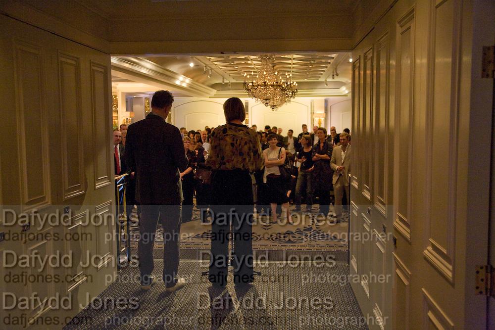 JULIA PEYTON-JONES; HANS ULRICH OBRIST; Frank Gehry Serpentine Pavilion opening event: Berkeley Hotel. London. 18 July 2008 *** Local Caption *** -DO NOT ARCHIVE-© Copyright Photograph by Dafydd Jones. 248 Clapham Rd. London SW9 0PZ. Tel 0207 820 0771. www.dafjones.com.