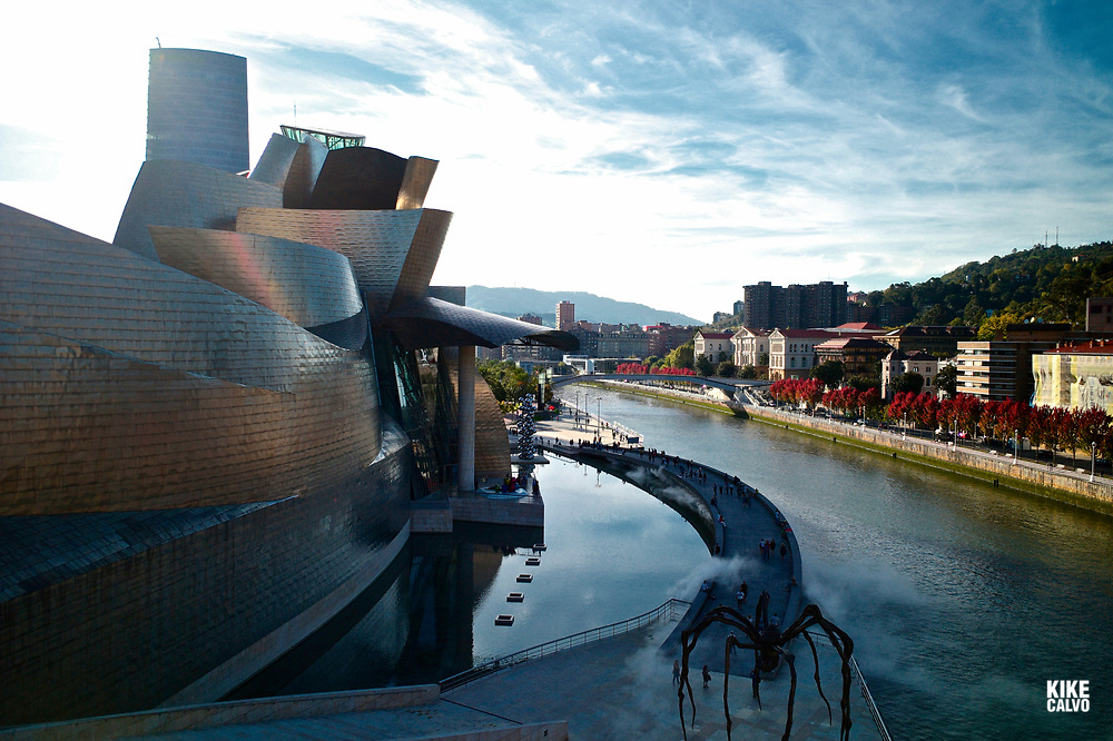 The Guggenheim museum next to Nervion River