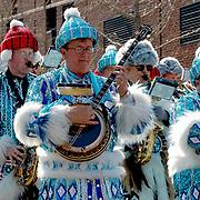 Philadelphia Mummers String Band play at the Wilmington Patricks Day Parade, 03/2005
