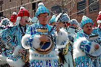 Philadelphia Mummers String Band play at the Wilmington Patricks Day Parade, 03/2005