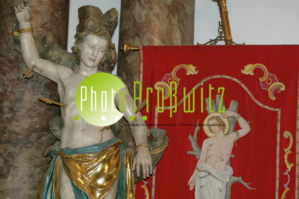 Mannheim. Marktplatzkirche. Abbildnis vom heiligen Sebastian<br /> <br /> Bild: Pro&szlig;witz