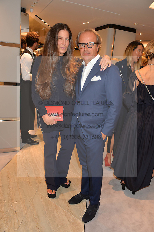 ELIZABETH SALTZMAN and ANDREA DELLA VALLE at a dinner hosted by Tod's to celebrate the refurbishment of their store 2-5 Old Bond Street, London on 15th September 2016.