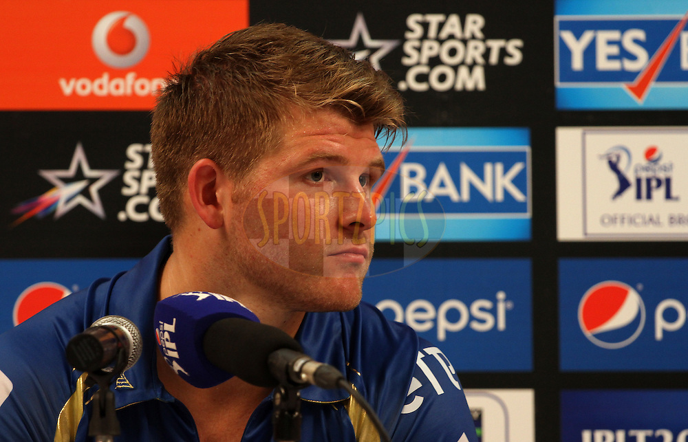 Corey Anderson of the Mumbai Indians during press conference of  match 22 of the Pepsi Indian Premier League Season 2014 between the Mumbai Indians and the Kings XI Punjab held at the Wankhede Cricket Stadium, Mumbai, India on the 3rd May  2014<br /> <br /> Photo by Vipin Pawar / IPL / SPORTZPICS<br /> <br /> <br /> <br /> Image use subject to terms and conditions which can be found here:  http://sportzpics.photoshelter.com/gallery/Pepsi-IPL-Image-terms-and-conditions/G00004VW1IVJ.gB0/C0000TScjhBM6ikg