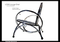 LCMX Lounge Chair with inner-tube upholstery.