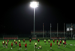General view of the training session at the Football Association of Montenegro, Podgorica.