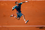 Roland Garros. Paris, France. May 27th 2012.French player Jo-Wilfried TSONGA against Andrey Kuznetsov ...