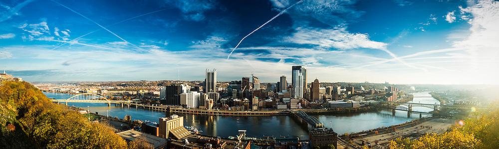 Pittsburgh skyline panorama