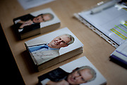Autograph cards signed by the Czech President Milos Zeman laid out at the regional office of the Pilsen Region.  Miloš Zeman (born 28 September 1944) is the third and current President of the Czech Republic, in office since 8 March 2013.  He announced his candidacy for the 2018 presidential elections which will be held in the Czech Republic on 12–13 January.