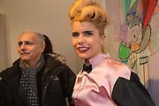 HANIF KUREISHI; PALOMA FAITH, George Condo - private view . Simon Lee Gallery, 12 Berkeley Street, London, 10 February 2014