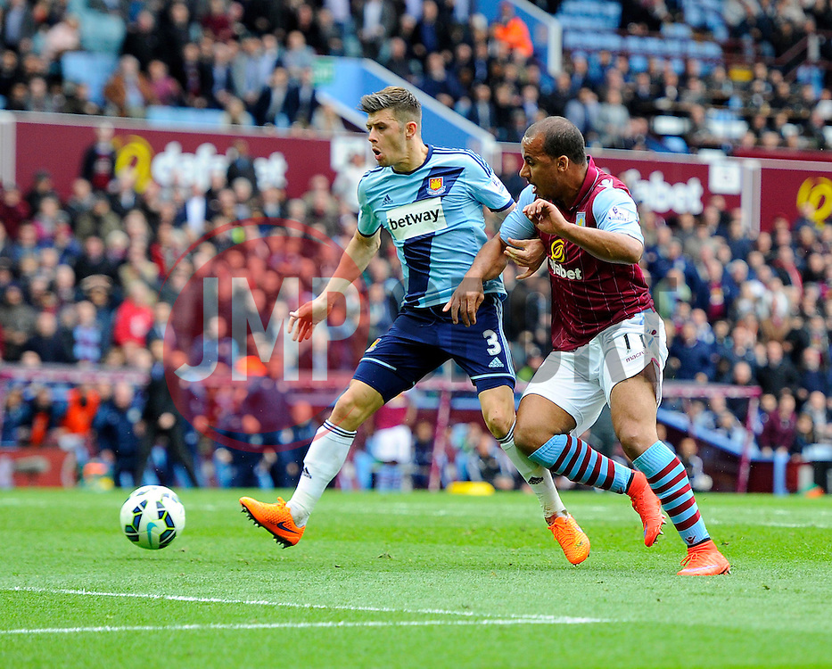 Aston Villa's Gabriel Agbonlahor fires wide late on  - Photo mandatory by-line: Joe Meredith/JMP - Mobile: 07966 386802 - 09/05/2015 - SPORT - Football - Birmingham - Villa Park - Aston Villa v West Ham United - Barclays Premier League