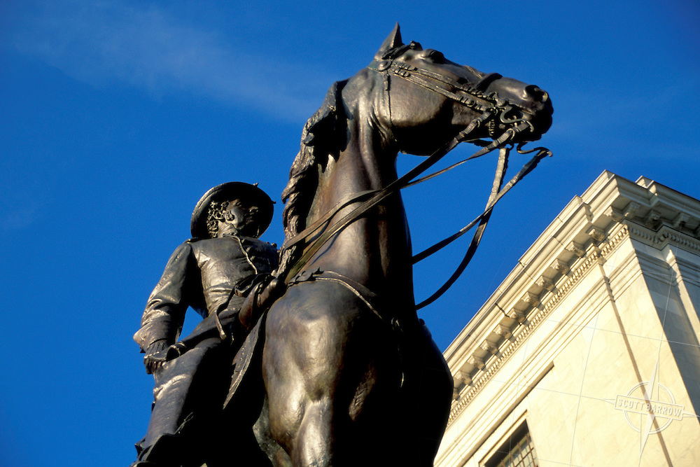 General Joseph Hooker Equestrian Statue in front of State House, Boston MA