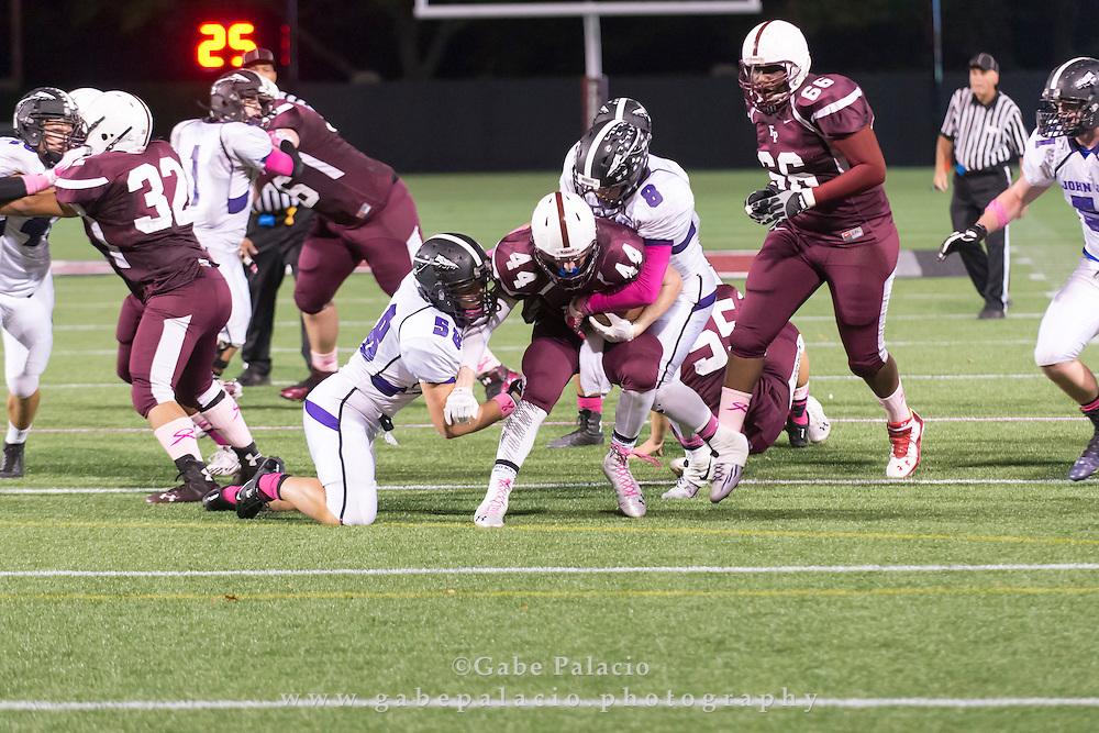 John Jay Varsity Football game at Fordham on October 10, 2014. (photo by Gabe Palacio)