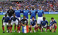 Fotball<br /> Frankrike<br /> Foto: DPPI/Digitalsport<br /> NORWAY ONLY<br /> <br /> FOOTBALL - FIFA WORLD CUP 2010 - QUALIFYING ROUND - GROUP 7 - FRANCE v ROMANIA  - 5/09/2009<br /> <br /> TEAM FRANCE ( BACK ROW LEFT TO RIGHT : HUGO LLORIS / ANDRE PIERRE GIGNAC / NICOLAS ANELKA / WILLIAM GALLAS / JULIEN ESCUDE . FRONT ROW : LASSANA DIARRA / PATRICE EVRA / THIERRY HENRY / YOANN GOURCUFF / BAKARI SAGNA / JEREMY TOULALAN )<br /> Lagbilde Frankrike