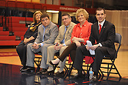 New Ole Miss women's basketball coach Matt Insell holds his introductory press conference at the Gillom Center in Oxford, Miss. on Friday, April 12, 2013.