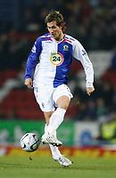 Photo: Paul Greenwood/Sportsbeat Images.<br />Blackburn Rovers v Arsenal. Carling Cup, Quarter Final. 18/12/2007.<br />Blackburn's Morten Gamst Pedersen in action.