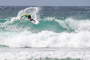 Peony Knight (UK) during the Boardmasters WSL Women's Roxy Pro Surf Championships at Fistral Beach,  Newquay, Cornwall, United Kingdom on 9 August 2019.