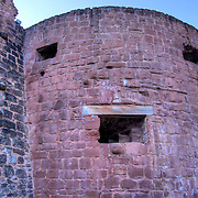 """The outer """"face"""" of the ball tower at Hardenburg. amusing today, life threating during it's time in active use!"""