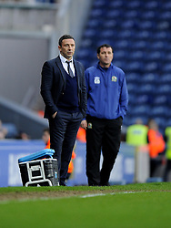 Bristol City Manager, Derek McInnes (left) and Blackburn Rovers Care Taker Manger, Gary Bowyer (right) - Photo mandatory by-line: Joe Meredith/JMP  - Tel: Mobile:07966 386802 05/01/2013 - Blackburn Rovers v Bristol City - SPORT - FOOTBALL - FA Cup -  BLACKBURN - EWOOD PARK -