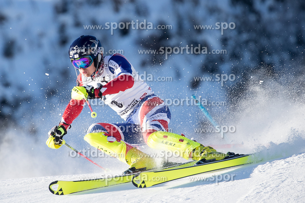 22.01.2017, Hahnenkamm, Kitzbühel, AUT, FIS Weltcup Ski Alpin, Kitzbuehel, Slalom, Herren, 1. Lauf, im Bild Dave Ryding (GBR) // Dave Ryding of United Kingdom in action during his 1st run of men's Slalom of FIS ski alpine world cup at the Hahnenkamm in Kitzbühel, Austria on 2017/01/22. EXPA Pictures © 2017, PhotoCredit: EXPA/ Johann Groder