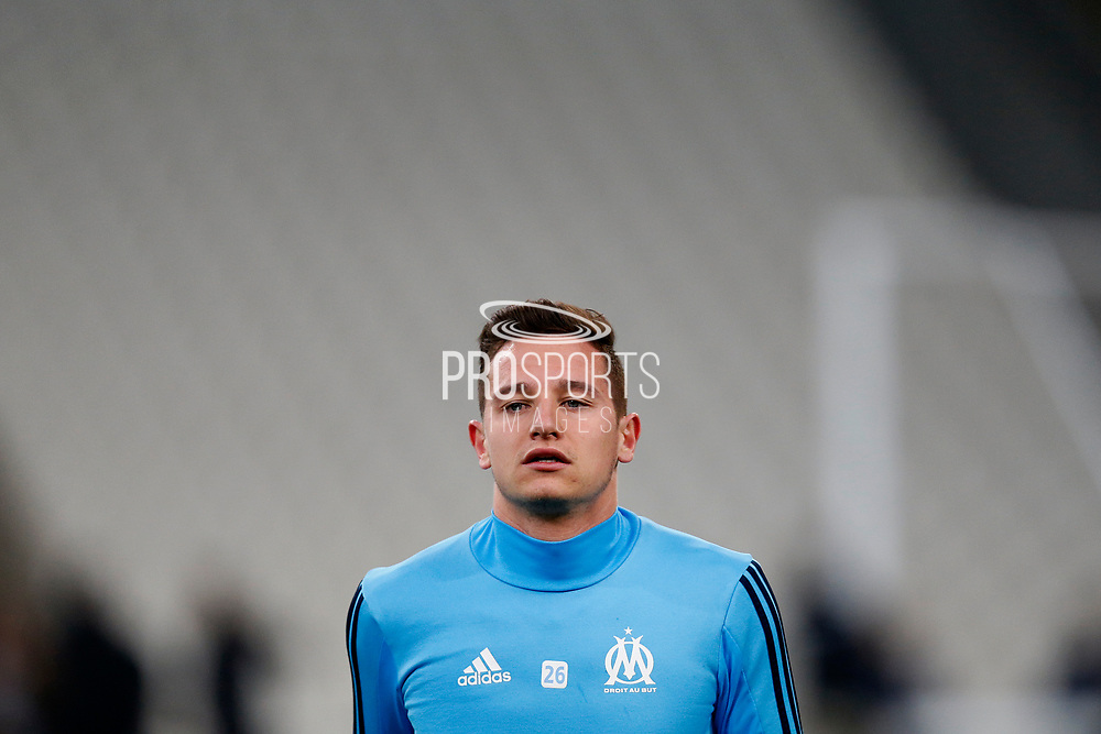 Olympique de Marseille's French forward Florian Thauvin warms up before the French Championship Ligue 1 football match between Olympique de Marseille and AS Monaco on January 28, 2018 at the Orange Velodrome stadium in Marseille, France - Photo Benjamin Cremel / ProSportsImages / DPPI