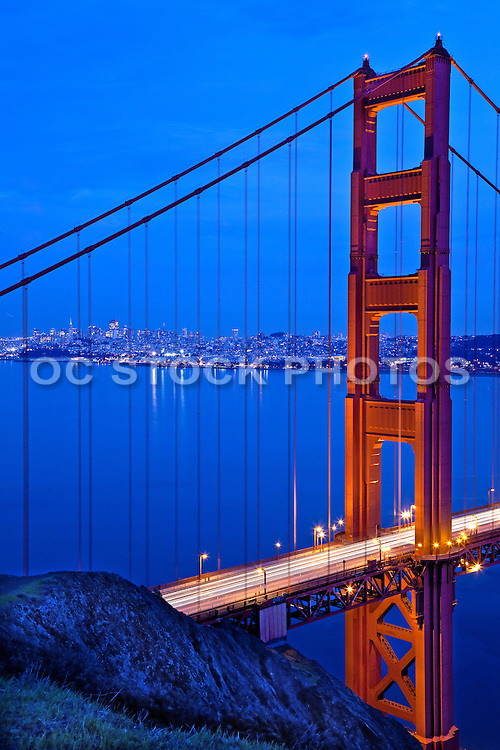 San Francisco Golden Gate Bridge at Dusk