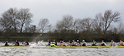 Putney; GREAT BRITAIN; 2009 Boat Race; Oxford [OUBC] vs University of Washington, [Huskies], raced over the 'Championship Course' Putney to Mortlake; on the River Thames; Sun 01.03.2009. [Mandatory Credit; Peter Spurrier / Intersport-images. Rowing Course: River Thames; Championship course; Putney to Mortlake 4.25 Miles Varsity, Pre Boat Race Fixture.
