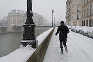 France. Paris. 4th district. The quai  d Orleans along the Seine river , on Saint Louis island, / Quai d orleans sur l ile saint Louis,