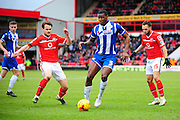 Donervon Daniels of Wigan Athletic during the Sky Bet League 1 match between Walsall and Wigan Athletic at the Banks's Stadium, Walsall, England on 20 February 2016. Photo by Mike Sheridan.