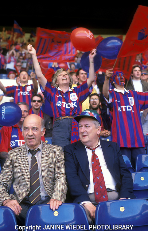 Crystal Palace football match at Wembley Stadium.