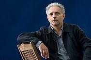 Hanif Kureishi, British author, writer of 'The Buddha of Suburbia'. Edinburgh International Book Festival, Edinburgh, Scotland. Edinburgh is the inaugural UNESCO City of Literature.