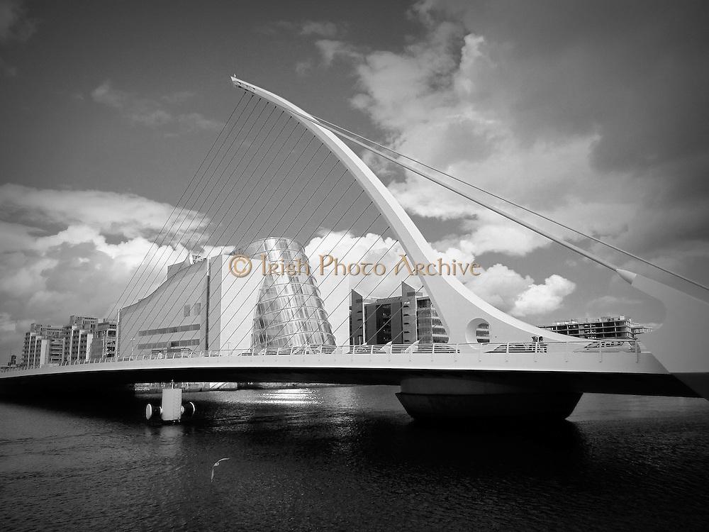 Samuel Beckett Bridge, Sir John Rogersons Quay, Dublin, 2009,