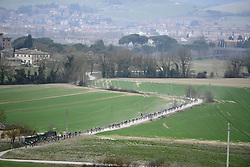 March 10, 2019 - Siena, Italia - Foto Fabio Ferrari / LaPesse.10 Marzo 2019 Siena (Italia).SportCiclismo.Gara ciclistica Gran Fondo Strade Bianche 2019 .nella foto: un momento della gara..Photo Fabio Ferrari / LaPresse.March, 10 2019 Siena (Italy) SportCycling.Gran Fondo Strade Bianche 2019 .in the photo: the competition. (Credit Image: © Fabio Ferrari/Lapresse via ZUMA Press)